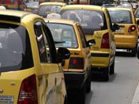 Cerca de cien taxistas bloquearon la frontera entre Soacha y Bogotá