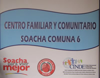 Se presentó Centro Familiar y Comunitario de Soacha en la comuna seis