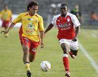 Santa Fe derrotó al Bogotá F.C. en el estadio Luis Carlos Galán