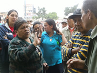 Habitantes de Llanogrande protestan frente a las instalaciones de la Alcaldía