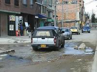 Comisión de verificación visita  pésimo estado vial del barrio Portalegre