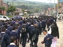 Sibateños marcharon en respaldo a la defensa de los Derechos Humanos