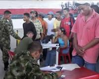 Reclutamiento obligado en Distrito Militar de Soacha