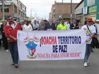 Soacha dio ejemplo de paz y no violencia