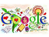 Niña santandereana diseña logo de  Google