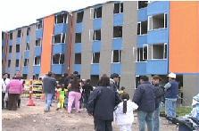 Por primera vez,  beneficiarios de Balcones de San José visitaron los apartamentos