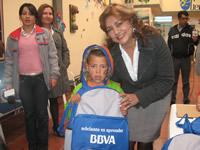 BBVA entregó kits escolares a niños vulnerables de Soacha