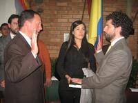 En la notaría segunda se posesionó Claudio Mario Galán como alcalde(e) de Soacha