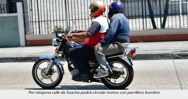 A Soacha vuelve el toque de queda y la restricción de parrillero hombre