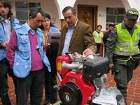 Seis motobombas   y trece carpas donó  la oficina del ACNUR al municipio de Soacha
