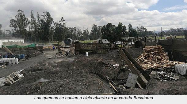 Cinco capturados por quemas a cielo abierto en Soacha