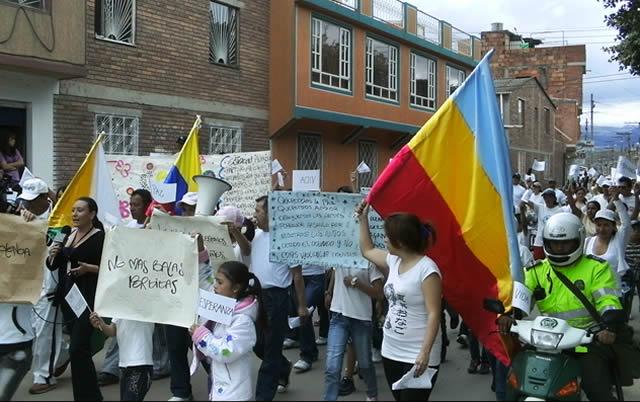 Soacha se manifestó en contra de la violencia