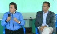Juan Carlos Nemocón y Oswaldo Córdoba se manifiestan frente a la crisis institucional de Soacha
