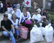 Cerca de 4000 personas recibieron ayudas de la Cruz Roja durante el fin de semana