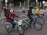 Tres caravanas por las ciclorrutas de la capital en el 'Día sin carro'