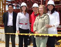 Viceministra de Protección Social inspecciona obras del Hospital de Cajicá