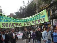 Lecheros de Soacha presentes en la jornada de resistencia civil contra la política láctea del Gobierno Nacional