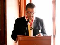 Alonso Ospina fue condecorado con la medalla del Dios Varón