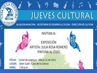 Exposición de pintura en la  Casa  de la Cultura de Chía