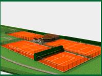 Tres canchas de tenis están a punto de inaugurarse