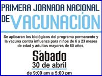 Primera Jornada Nacional de Vacunación en Zipaquirá