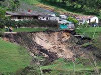 Invierno causa estragos en Sibaté