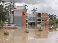 Se rompió un nuevo tramo del jarillón del río Bogotá