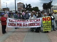 Habitantes de Ciudadela Sucre exigen el cese de la explotación minera