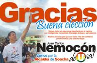 Juan Carlos Nemocón agradece a sus electores