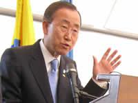 En Soacha concluyó la visita a Colombia del Secretario General de la ONU