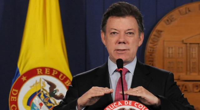 A las 11 am  arribará el presidente Santos a Soacha