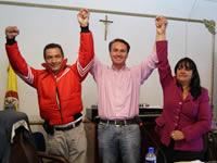 Respaldo y aval de tres partidos para  Juan Carlos Nemocón