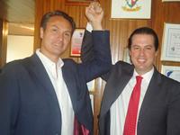 Juan Manuel Galán vino a Soacha a reivindicar su  apoyo a Juan Carlos Nemocón