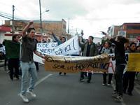 Soacha marchó en contra de la privatización de la educación pública