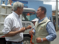 Juan Carlos Nemocón y Enrique Peñaloza trabajarán en una agenda bilateral