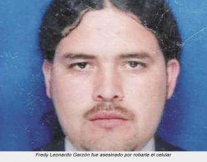 Fredy Leonardo Garzón fue asesinado por robarle el celular-Soacha