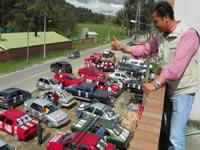 Más de 300 carros protagonizaron caravana organizada por la campaña de Juan Carlos Nemocón