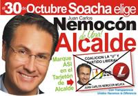 Razones para votar este 30 de octubre por Juan Carlos Nemocón
