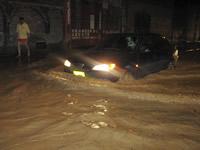 La troncal de Transmilenio en Soacha bajo las aguas