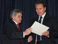'Dejar atrás todas las rencillas propias de una campaña política' fue el llamado de Juan Carlos Nemocón al recibir su credencial de Alcalde