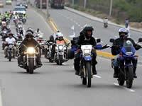 Caravana Motorizada por la Libertad de los Secuestrados llega a Soacha