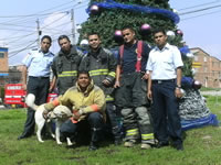 Así celebran la navidad los bomberos de Soacha