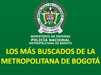 Entre uno y cincuenta millones de pesos por los 100 delincuentes más buscados de Bogotá