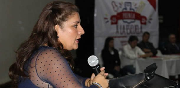 Olga Lucía Acosta Cantor  es la gerente de la Empresa inmobiliaria y logística de Cundinamarca
