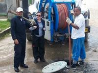 Con vactor de Chía, Alcaldía de Soacha  realiza mantenimiento de las redes de Alcantarillado
