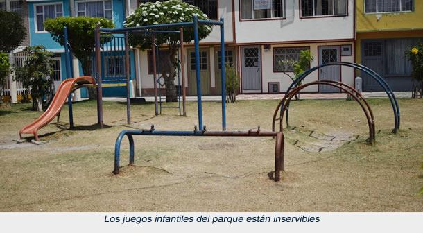 Las vías en mal estado, un dolor de cabeza para los habitantes del barrio El Nogal