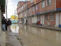 Otra vez se inundó  el barrio Nuevo Colón