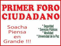 Este viernes es el  Primer Foro Ciudadano 'Soacha Piensa en Grande'