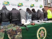 Policía desarticula banda de microtráfico en Soacha