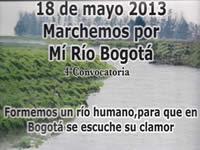 Soachunos acompañan la caminata  por el río Bogotá